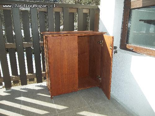 mueble especial para balcn o tarasa resistente a la humedad y con cerradura acabado